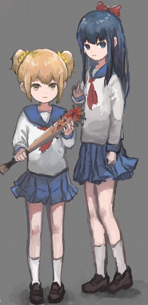 【どこいきやがった…】釘バットを持つ女子達の二次画像【40】