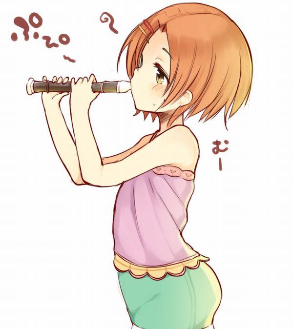 【フェラの隠語じゃないよ?】笛を吹いてる女の子達の二次エロ画像【7】