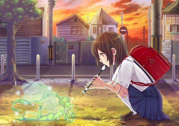 【フェラの隠語じゃないよ?】笛を吹いてる女の子達の二次エロ画像【16】