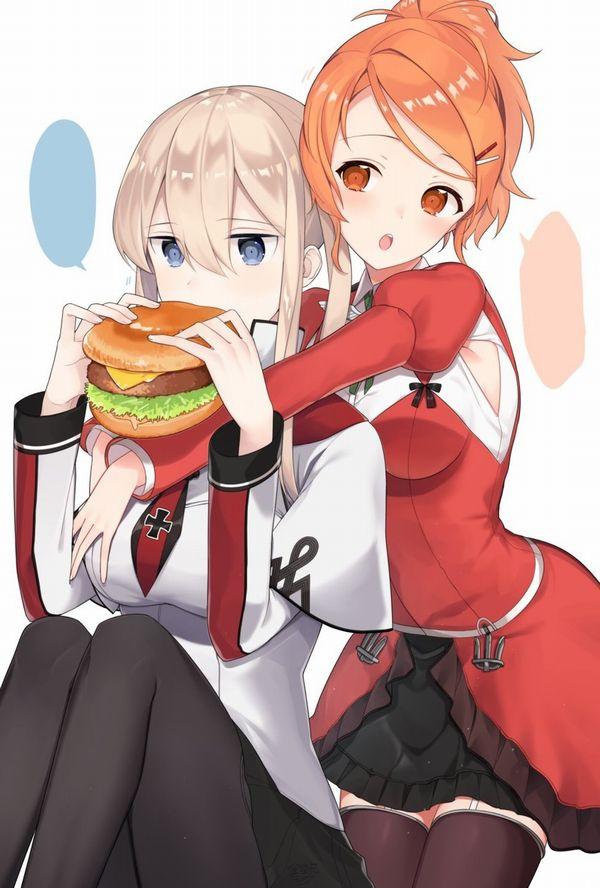 【ノーノー】ハンバーガー食べてる女の子達の二次画像【ヘンブゥーグゥ~】【20】