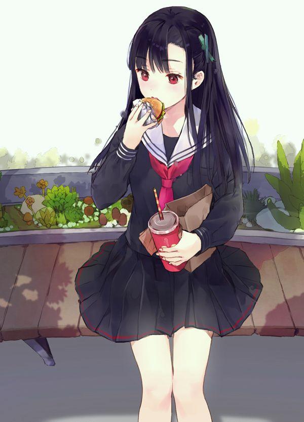 【ノーノー】ハンバーガー食べてる女の子達の二次画像【ヘンブゥーグゥ~】【21】