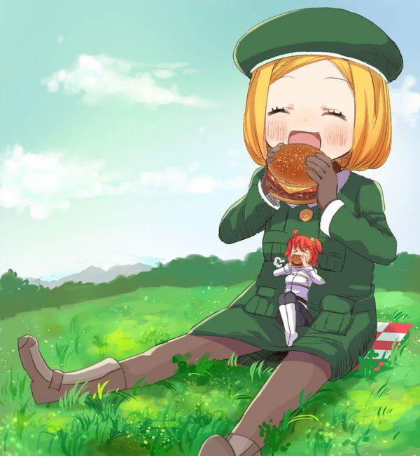 【ノーノー】ハンバーガー食べてる女の子達の二次画像【ヘンブゥーグゥ~】【33】