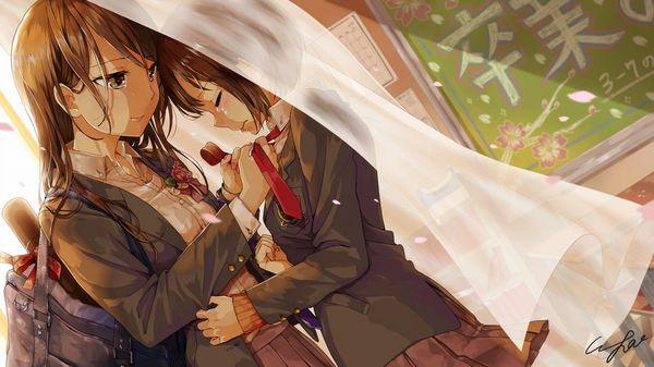 【雨や風寒さに負けず】卒業式と制服美少女の二次エロ画像【あの木は強く育つだろう】【15】