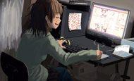 【初代pixiv総長】ペンタブレットで絵描いてる腐女子達の二次画像