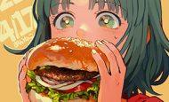【ノーノー】ハンバーガー食べてる女の子達の二次画像【ヘンブゥーグゥ~】