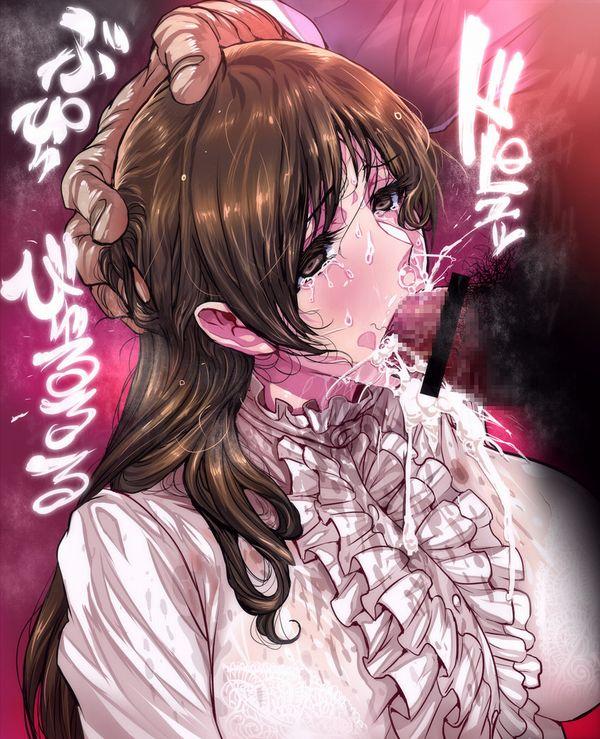 【鼻水じゃないよ!】鼻から精液噴出してる女子達の二次エロ画像【4】