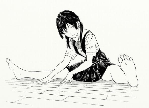 【柔軟体操】ストレッチしてる女子達の二次エロ画像【12】