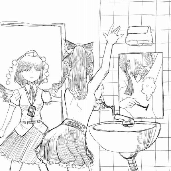 【カミソリ派】腋毛剃ってる女子達の二次エロ画像【12】