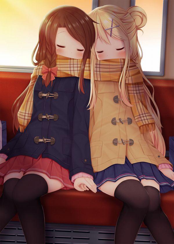 【日常のエロス】電車に乗ってる女の子達のパンチラ・胸チラ等二次エロ画像【21】
