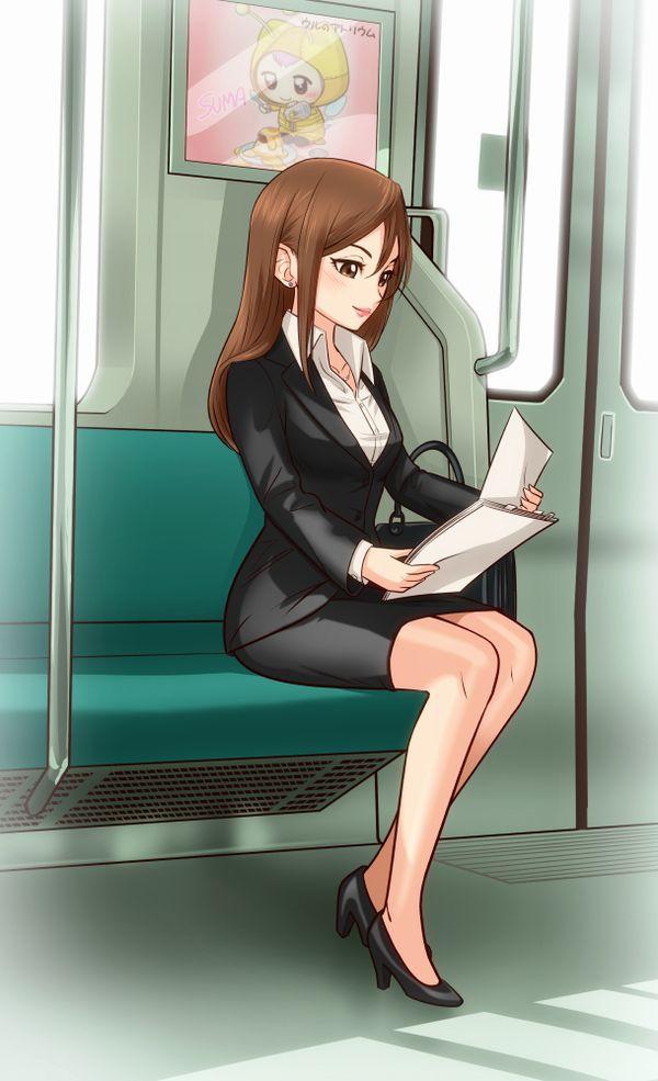 【日常のエロス】電車に乗ってる女の子達のパンチラ・胸チラ等二次エロ画像【23】