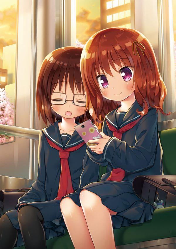 【日常のエロス】電車に乗ってる女の子達のパンチラ・胸チラ等二次エロ画像【26】