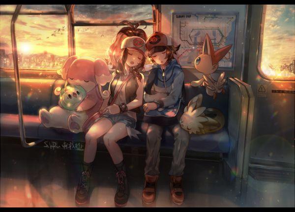 【日常のエロス】電車に乗ってる女の子達のパンチラ・胸チラ等二次エロ画像【30】