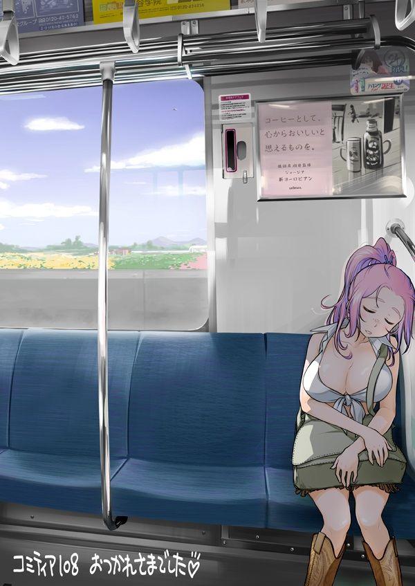 【日常のエロス】電車に乗ってる女の子達のパンチラ・胸チラ等二次エロ画像【37】