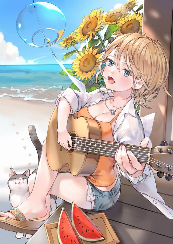 【駐車場のネコは】アコースティックギターと女の子の二次画像【あくびをしながら】【7】