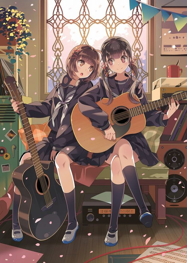 【駐車場のネコは】アコースティックギターと女の子の二次画像【あくびをしながら】【12】