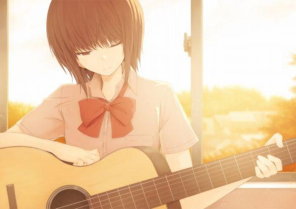 【駐車場のネコは】アコースティックギターと女の子の二次画像【あくびをしながら】【19】