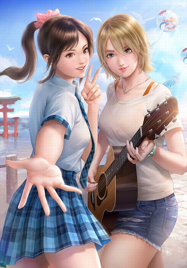 【駐車場のネコは】アコースティックギターと女の子の二次画像【あくびをしながら】【20】