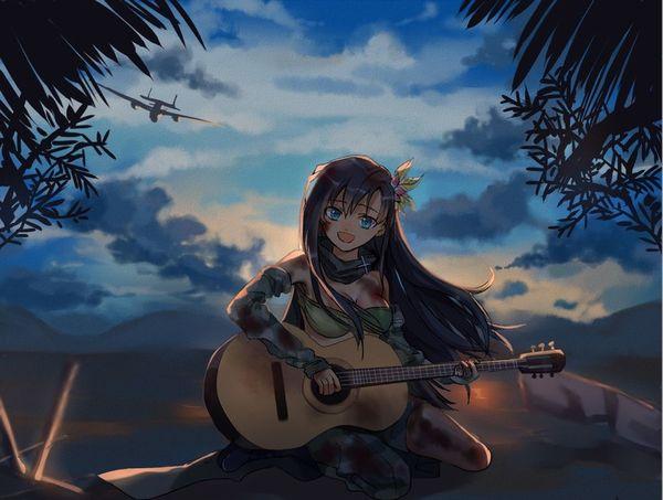 【駐車場のネコは】アコースティックギターと女の子の二次画像【あくびをしながら】【21】