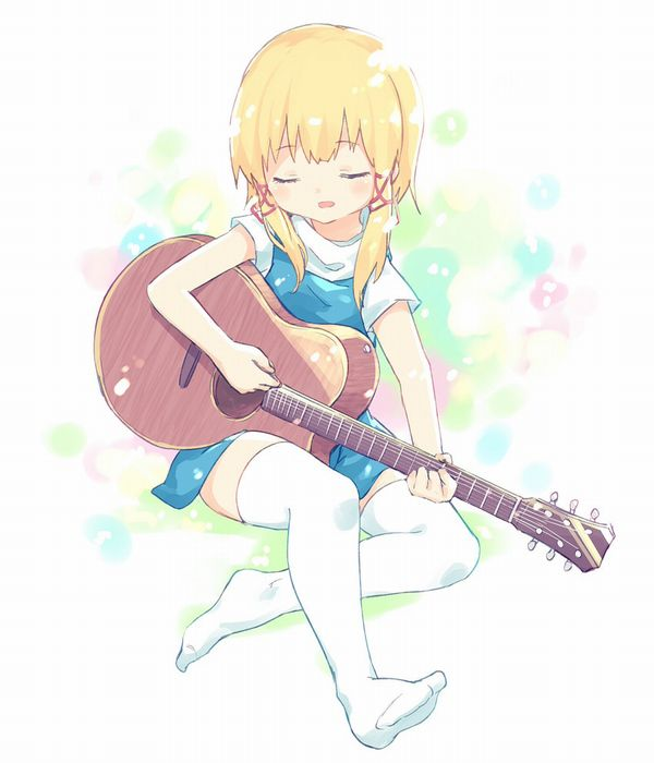 【駐車場のネコは】アコースティックギターと女の子の二次画像【あくびをしながら】【22】
