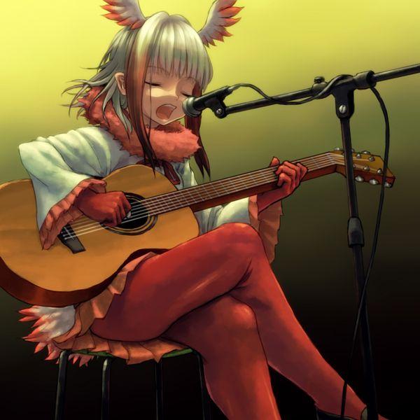 【駐車場のネコは】アコースティックギターと女の子の二次画像【あくびをしながら】【23】