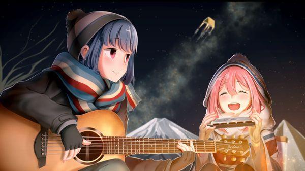 【駐車場のネコは】アコースティックギターと女の子の二次画像【あくびをしながら】【24】