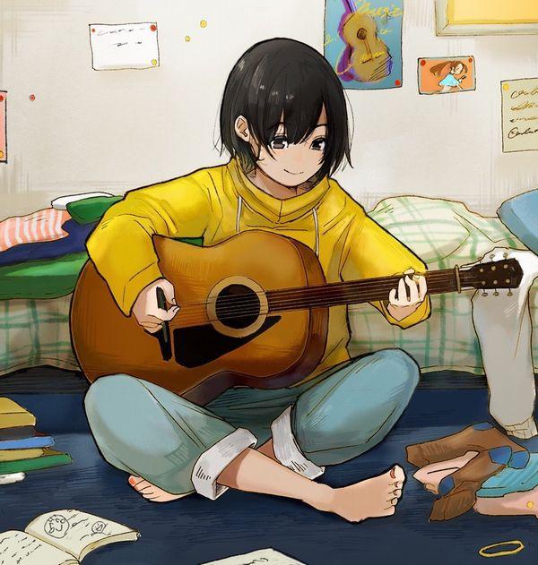 【駐車場のネコは】アコースティックギターと女の子の二次画像【あくびをしながら】【27】