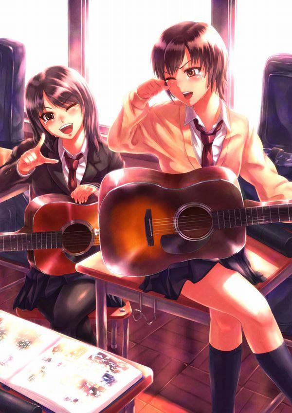 【駐車場のネコは】アコースティックギターと女の子の二次画像【あくびをしながら】【28】
