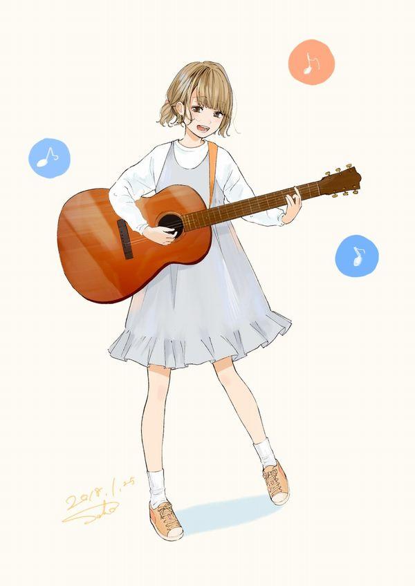 【駐車場のネコは】アコースティックギターと女の子の二次画像【あくびをしながら】【29】