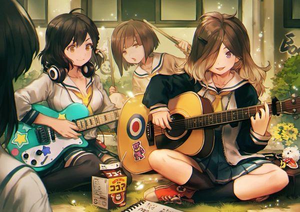 【駐車場のネコは】アコースティックギターと女の子の二次画像【あくびをしながら】【34】