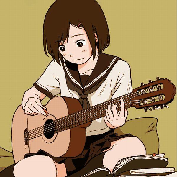 【駐車場のネコは】アコースティックギターと女の子の二次画像【あくびをしながら】【38】