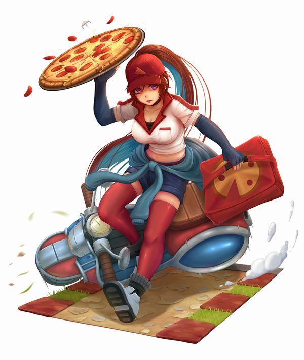 【違う物も届けて欲しい】宅配ピザのバイトしてる女子達の二次エロ画像【22】