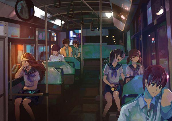 【路線バス】バス車内のエロかったりエロくなかったりな二次画像【観光バス】【14】