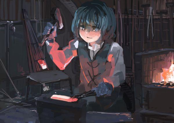 【ガテン系】鍛冶屋やら鉄工所やらで働く肉体労働系女子の二次エロ画像【10】