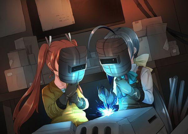【ガテン系】鍛冶屋やら鉄工所やらで働く肉体労働系女子の二次エロ画像【27】