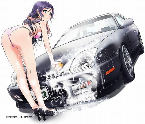 【アメリカンビッチ】美女がエロい格好で洗車してる二次エロ画像【20】