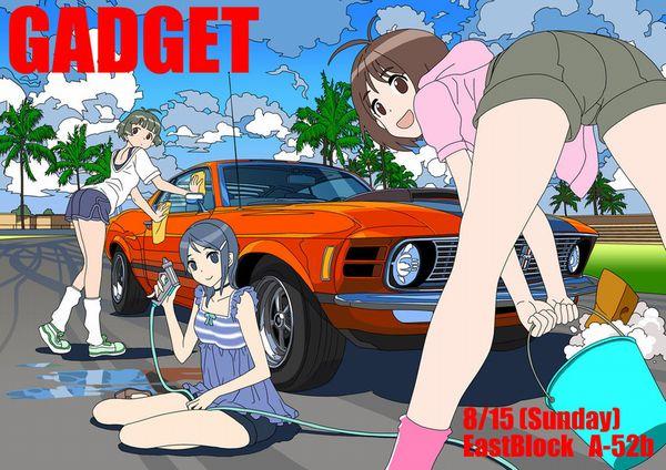 【アメリカンビッチ】美女がエロい格好で洗車してる二次エロ画像【23】