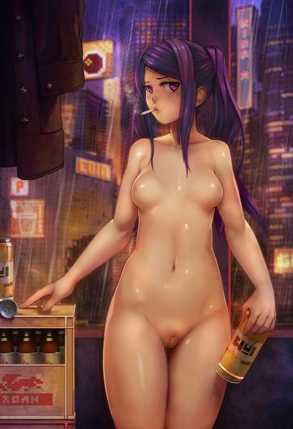 【事後の一服】裸でタバコ吸ってる女子の二次エロ画像【6】