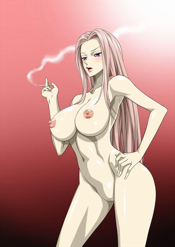 【事後の一服】裸でタバコ吸ってる女子の二次エロ画像【36】