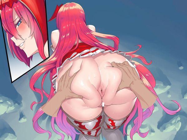 【ちょっと痛そう】強くケツ肉を捕まれてる女子達の二次エロ画像【14】