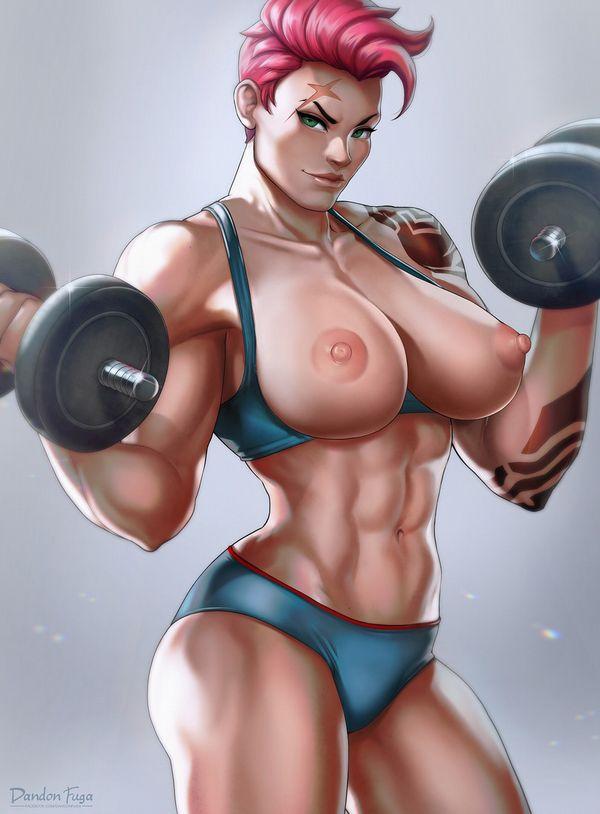 【見ろやこの筋肉!!】力こぶを自慢する女の子達の二次エロ画像【カッチカチやぞ!!】【12】