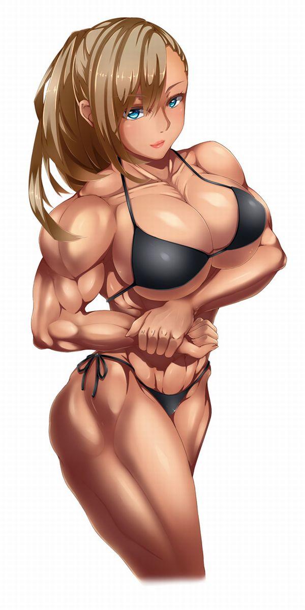 【見ろやこの筋肉!!】力こぶを自慢する女の子達の二次エロ画像【カッチカチやぞ!!】【16】