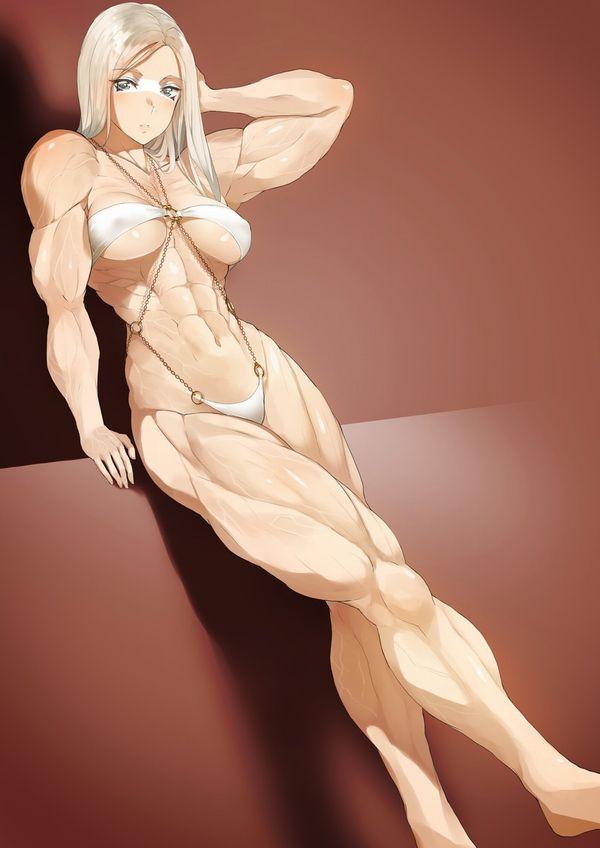 【見ろやこの筋肉!!】力こぶを自慢する女の子達の二次エロ画像【カッチカチやぞ!!】【20】