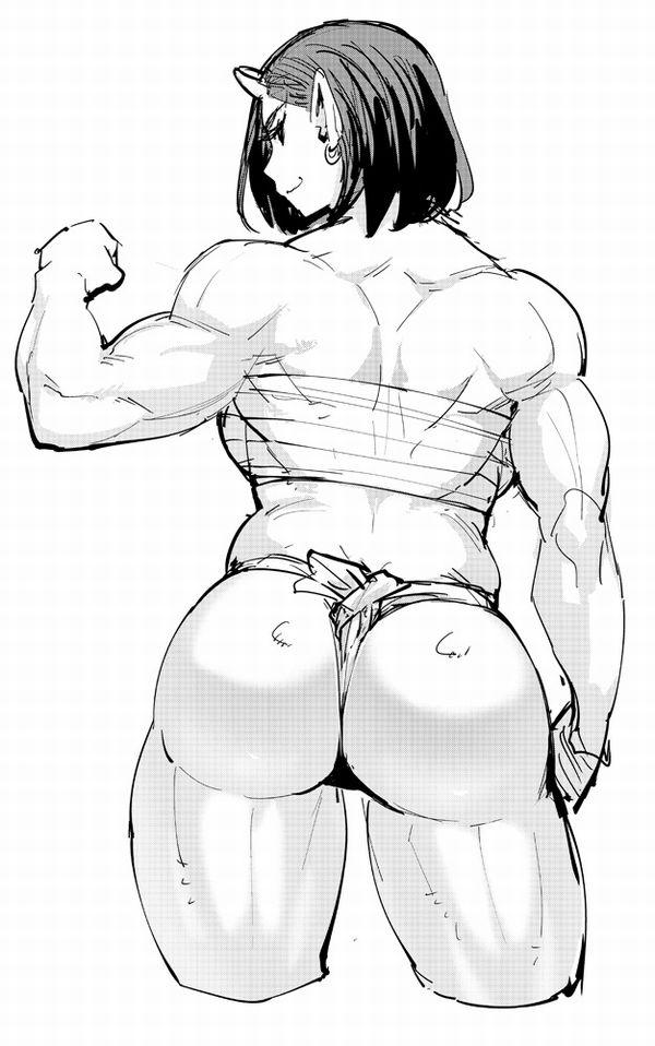 【見ろやこの筋肉!!】力こぶを自慢する女の子達の二次エロ画像【カッチカチやぞ!!】【21】