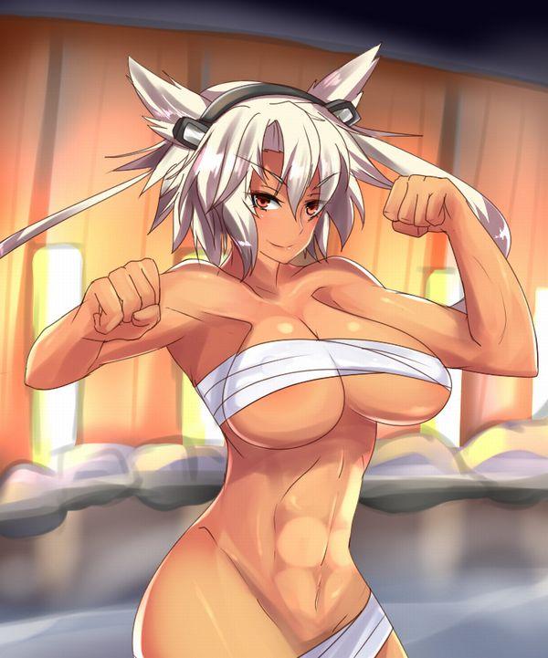 【見ろやこの筋肉!!】力こぶを自慢する女の子達の二次エロ画像【カッチカチやぞ!!】【26】