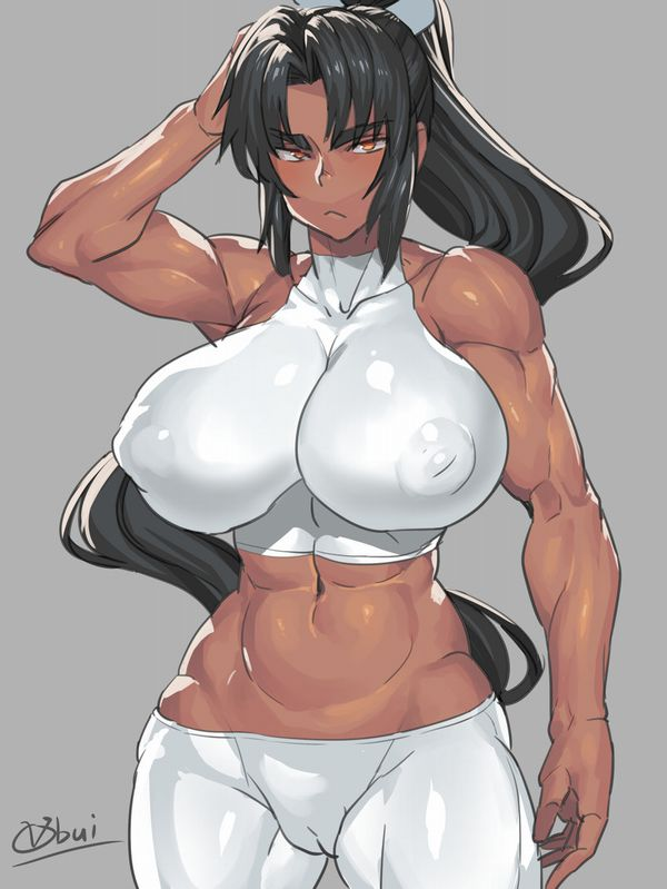 【見ろやこの筋肉!!】力こぶを自慢する女の子達の二次エロ画像【カッチカチやぞ!!】【29】