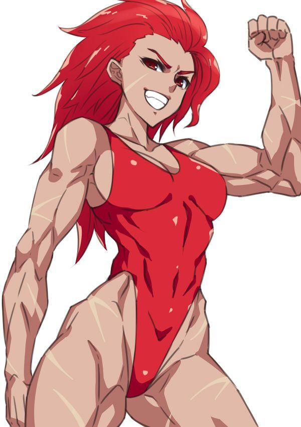 【見ろやこの筋肉!!】力こぶを自慢する女の子達の二次エロ画像【カッチカチやぞ!!】【34】