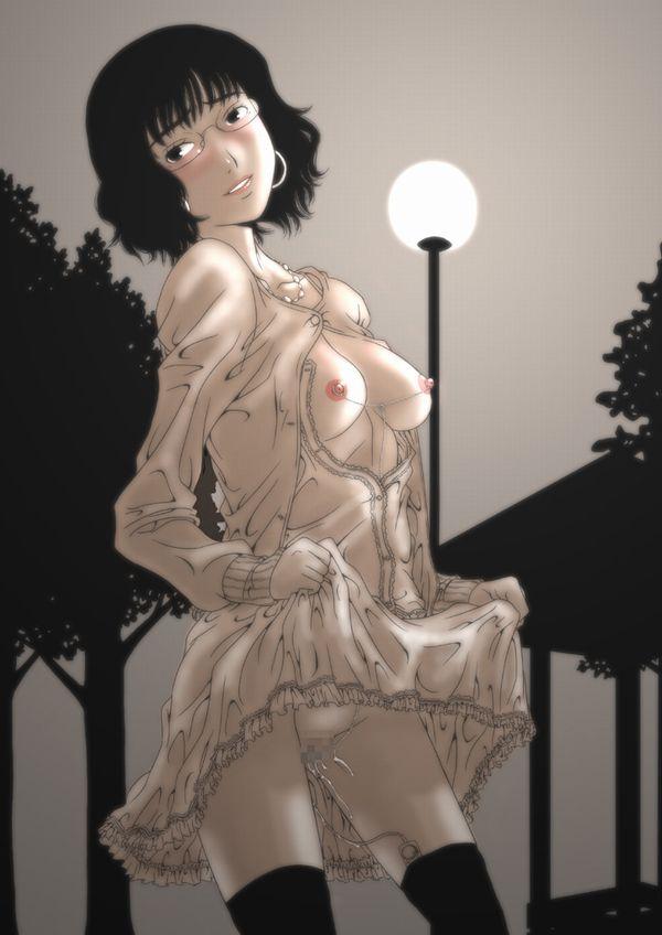 【過熱した欲望は】 夏の夜に増える露出狂達の二次エロ画像【遂に危険な領域へと】【28】