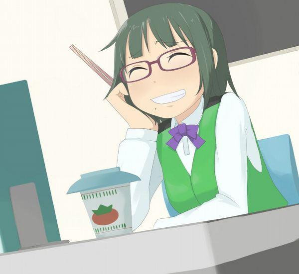 【お昼ご飯の定番】カップラーメン食べてる女子達のエロ画像【16】