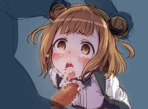 【にがーい】口内射精された精液を吐き出してる二次エロ画像