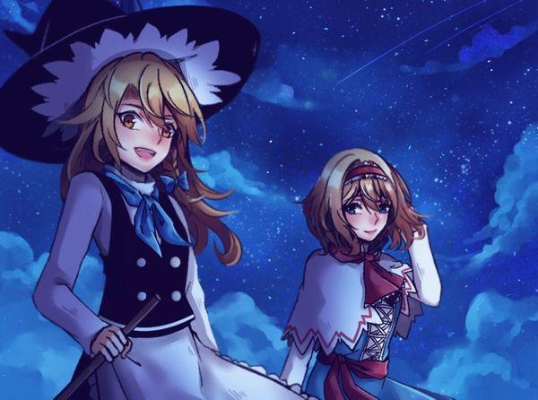 【starrysky】星空と女の子の幻想的な二次画像【IKUZO要素は無い】【22】